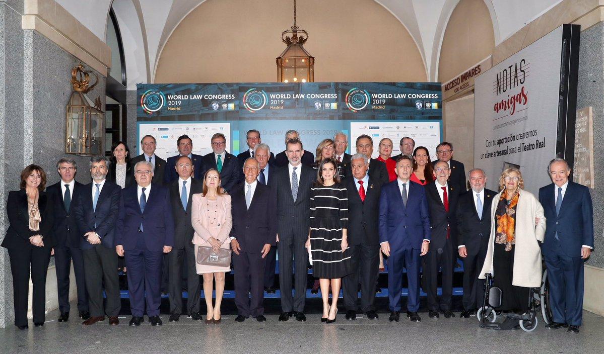 El rey Felipe VI en la clausura del 'World Law Congress (WLC)' de la 'World Jurist Association (WJA)'