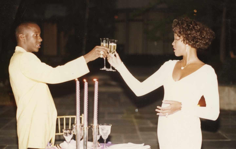 Whitney con Bobby Brown.