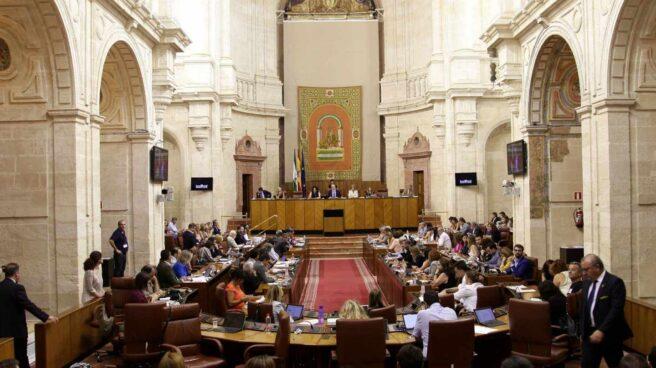 Salón de plenos del Parlamento andaluz en durante una sesión de la pasada legislatura.