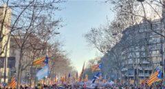 La marcha de este sábado en las calles de Barcelona.