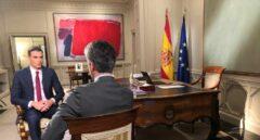 El presidente del Gobierno, Pedro Sánchez, durante su entrevista en TVE.