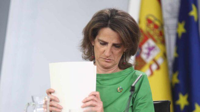 La ministra de Transición Ecológica, Teresa Ribera, tras la reunión del Consejo de Ministros.