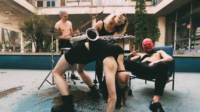 Los miembros del grupo ruso Pussy Riot.