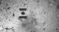 La sombra de Hayabusa2 justo después de tomar una muestra.