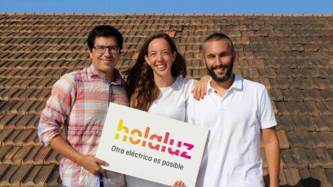 Los fundadores de Holaluz Ferran Nogué, Carlota Pi y Oriol Vila.
