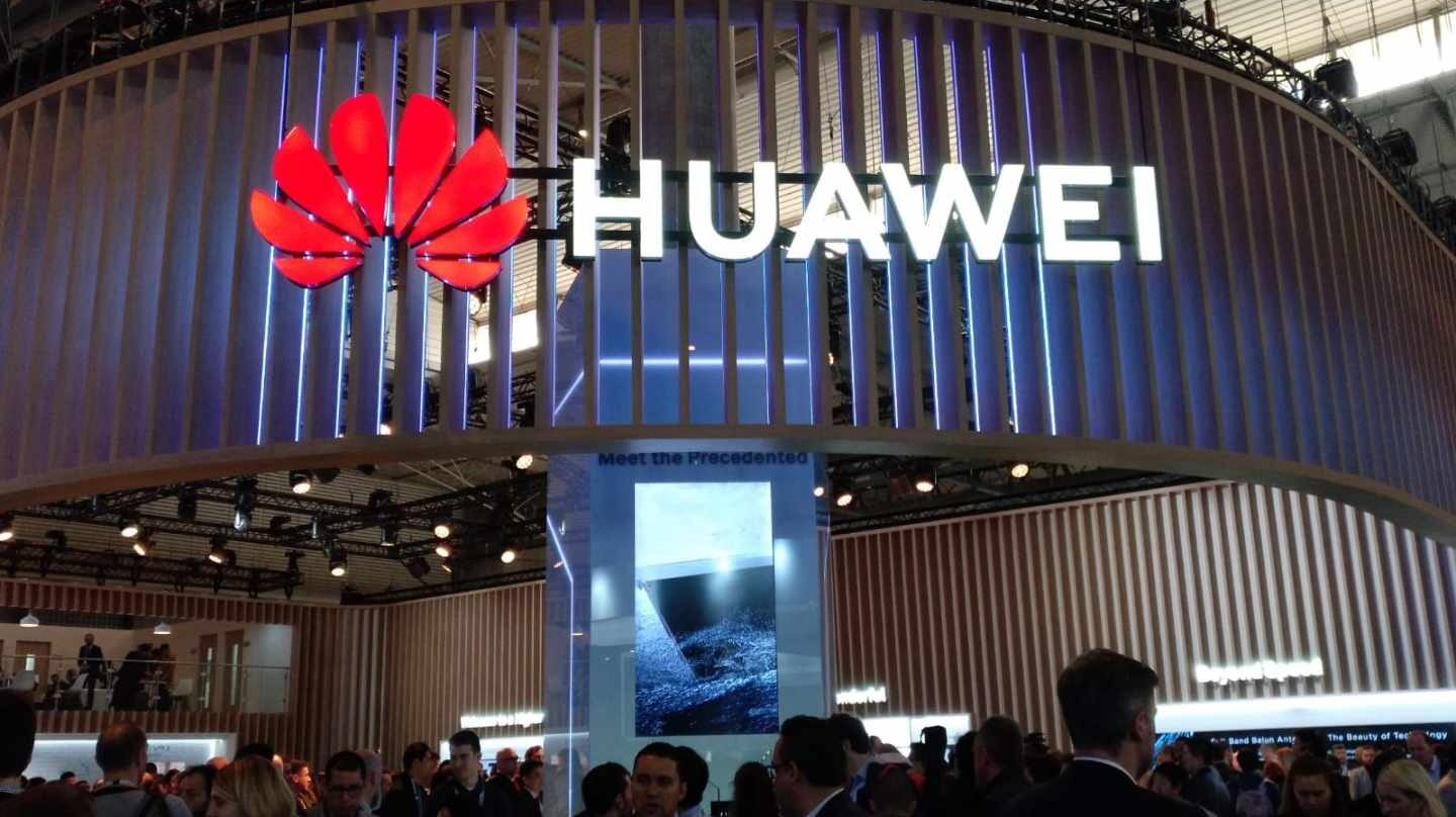 El stand del grupo chino Huawei en el Mobile World Congress.