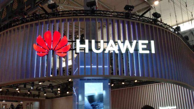 El stand del grupo chino Huawei en el Mobile World Congress.