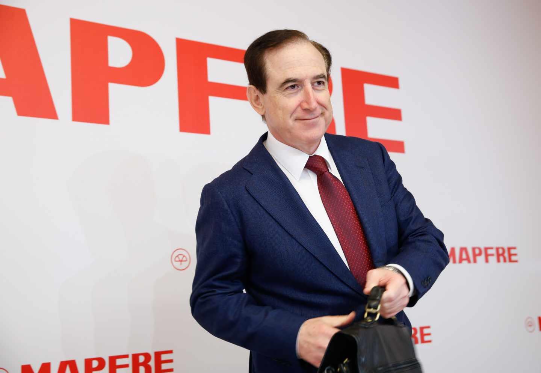 El presidente de Mapfre, Antonio Huertas, en la presentación de resultados del grupo.