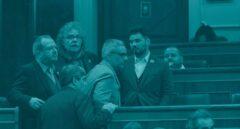 Los diputados de ERC en el Congreso.