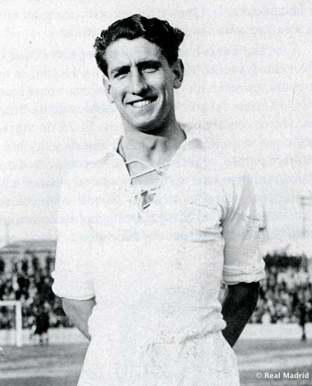Jaime Lazcano, primer goleador del Real Madrid en Liga.