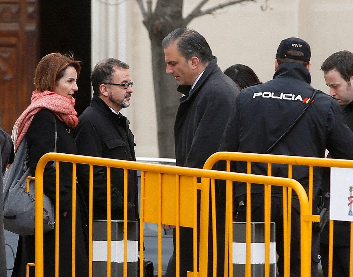 Javier Ortega Smith, antes de una de las sesiones del juicio del procés.