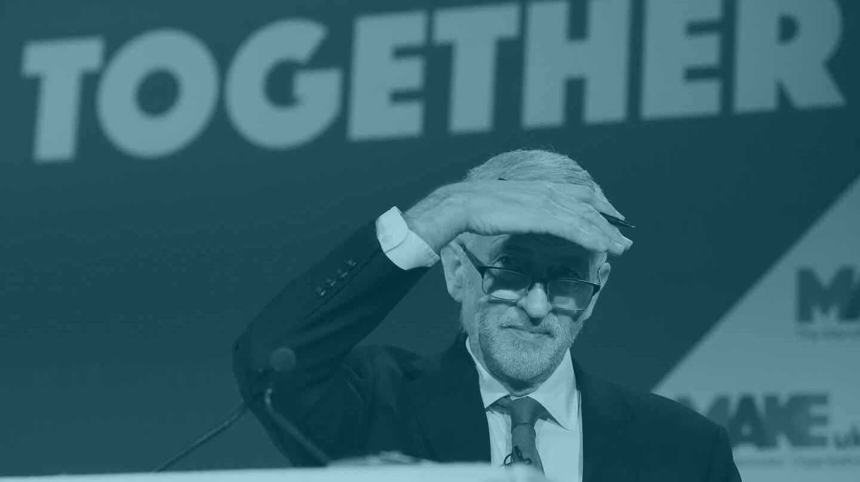 El líder laborista británico, Jeremy Corbyn, en un foro en Londres.