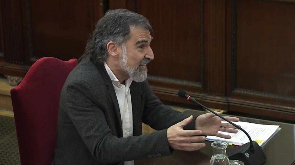 Jordi Cuixart, durante su declaración este martes en el juicio del 'procés'.