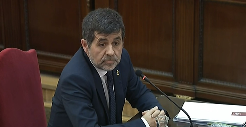 Jordi Sánchez, durante el juicio del procés.