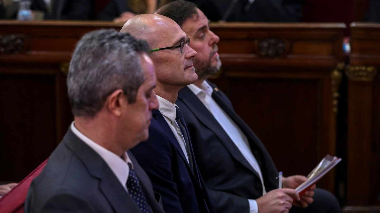 Joaquim Forn, Raul Romeva y Oriol Junqueras.