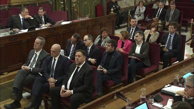 Los líderes independentistas catalanes, durante el juicio del procès.