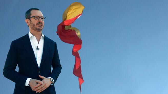 Javier Maroto en la Plaza de Colón donde se celebra la concentración por la unidad de España