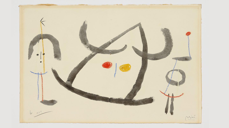 Joan Miro, L'enfançe d'Ubu, circa 1953 - Galería Jorge Alcolea