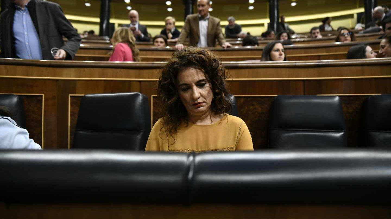 La ministra de Hacienda, María Jesús Montero, en el Congreso de los Diputados.