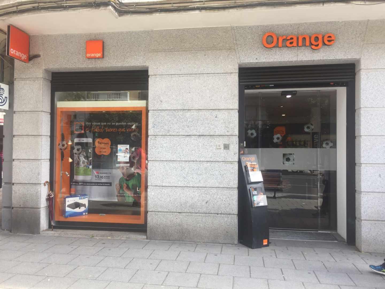 Tienda del grupo de telecomunicaciones Orange.