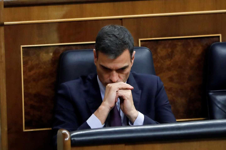 Pedro Sánchez, este miércoles en el Congreso de los Diputados durante el debate de la Ley de Presupuestos.
