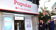 Sucursal de Banco Popular bajo la enseña del Grupo Santander.