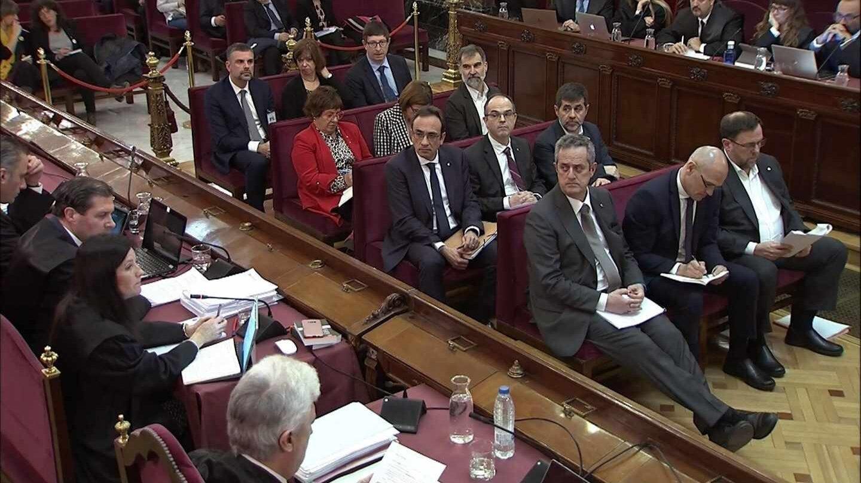 El banquillo de los acusados en el juicio del 'procés'.