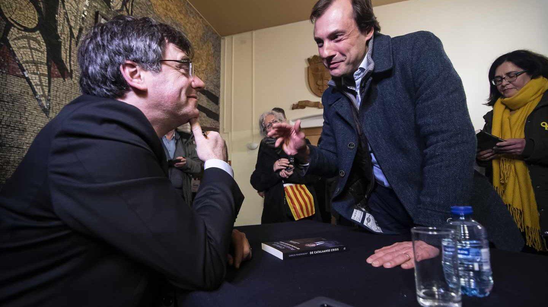 Carles Puigdemont, en la Universidad de Groningen.
