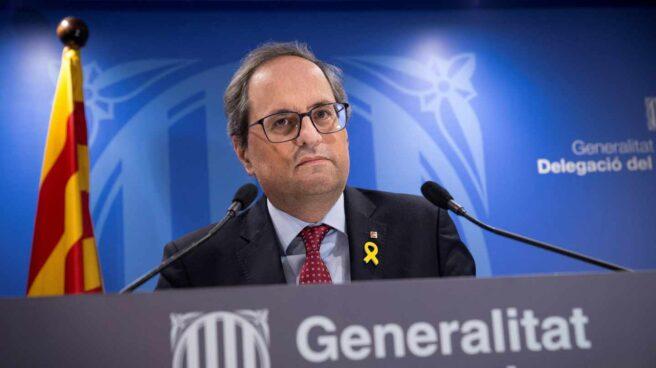 Quim Torra, en la delegación de la Generalitat en Madrid.