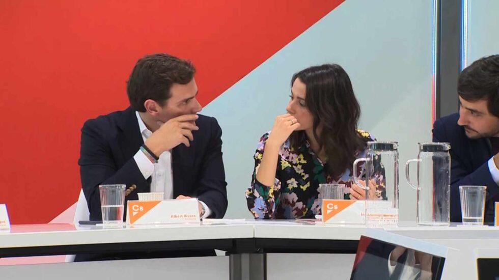 Rivera y Arrimadas, en el Comité Ejecutivo de Ciudadanos.