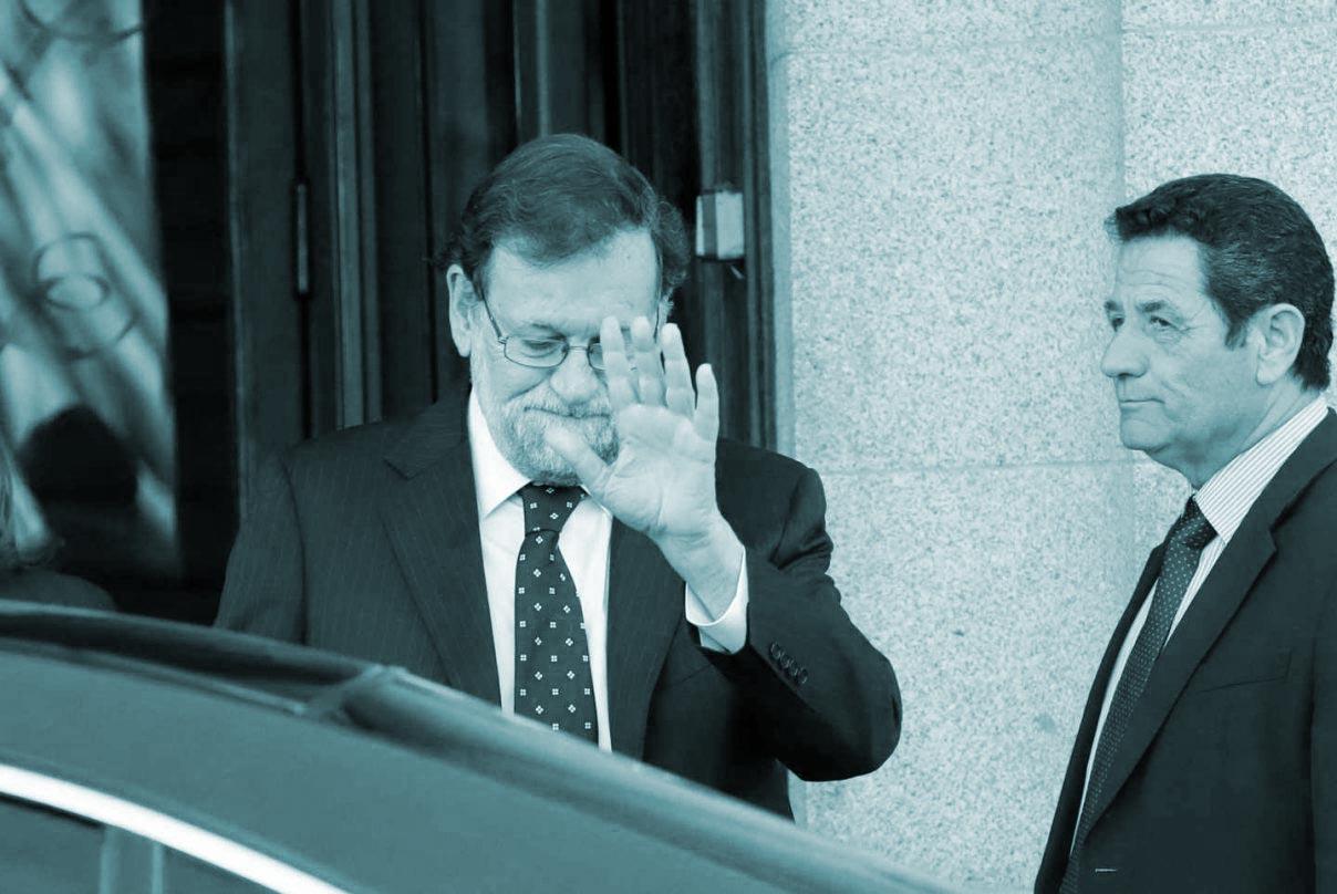 Mariano Rajoy, a su salida del Tribunal Supremo tras declarar en el juicio del procés.