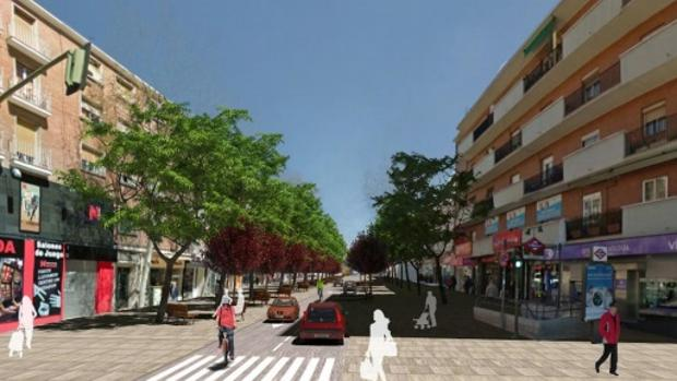 Recreación por parte de la Gerencia de Urbanismo de la Calle de Alcalá tras la reforma.