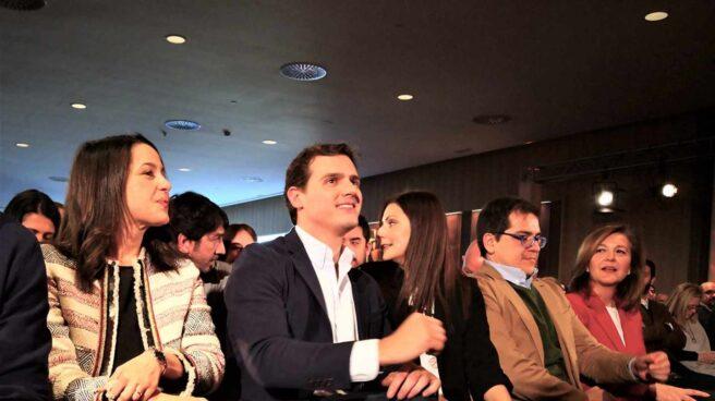 El presidente de Ciudadanos, Albert Rivera, en un acto este domingo en Barcelona.