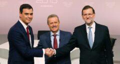 Pedro Sánchez y Mariano Rajoy en el debate previo a las elecciones generales de 20-D