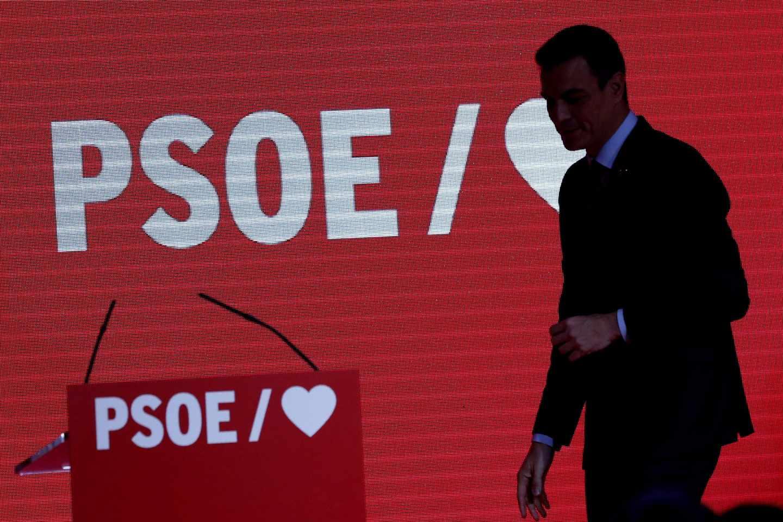 Pedro Sánchez, en la presentación de la campaña.