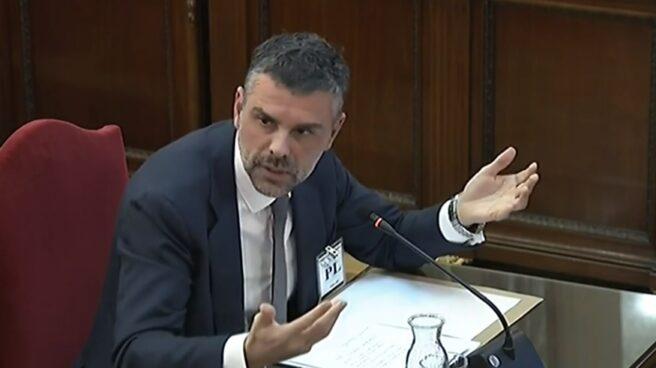 El ex conseller de la Generalitat Santi Vila, durante el juicio del procés.
