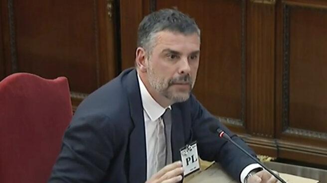El ex conseller Santi Vila, en el juicio del procés.