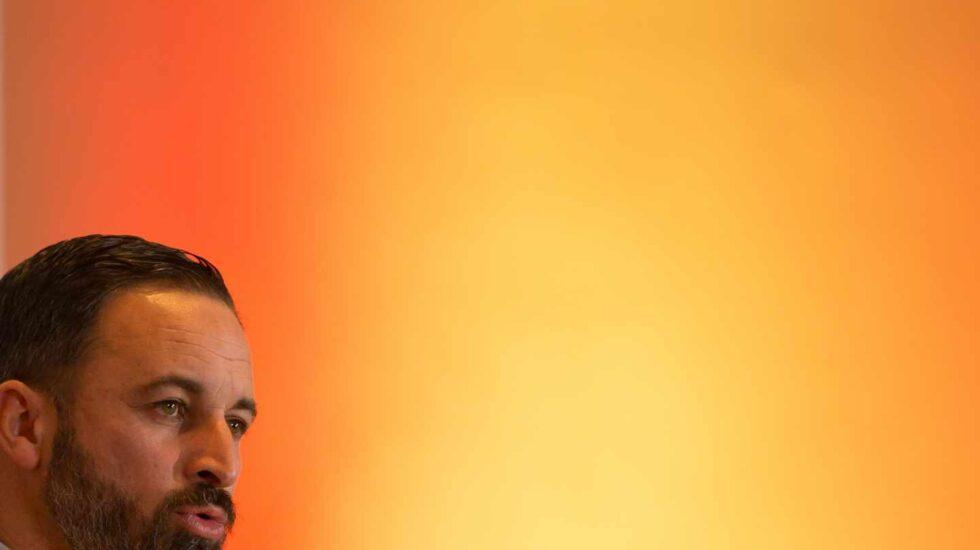 Santiago Abascal, en un mitin de Vox.