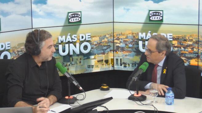 Torra, entrevistado por Alsina en Onda Cero.