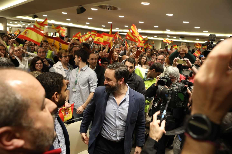 Santiago Abascal, en un acto de Vox.