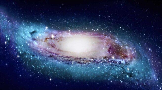 Recreación de la Vía Láctea con sus extremos retorcidos