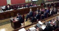 El ex 'conseller' Santi Vila, declarando este jueves en el juicio del 'procés'.