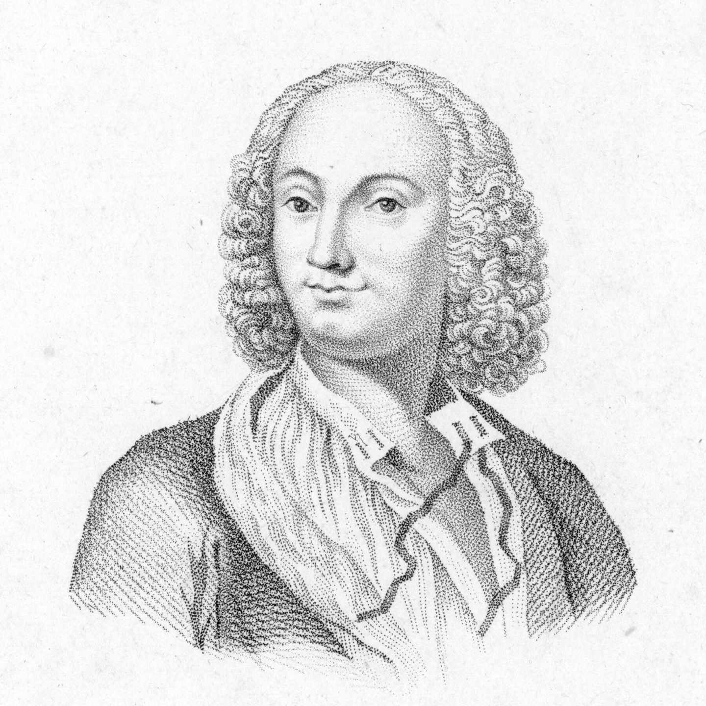 Retrato del compositor Antonio Vivaldi.