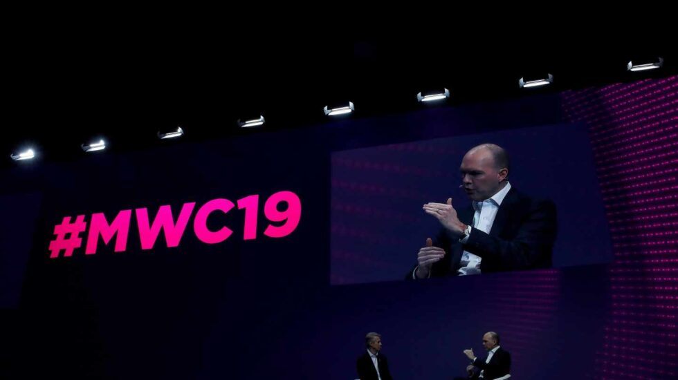 El consejero delegado del Grupo Vodafone, Nick Read, en el MWC 2019.