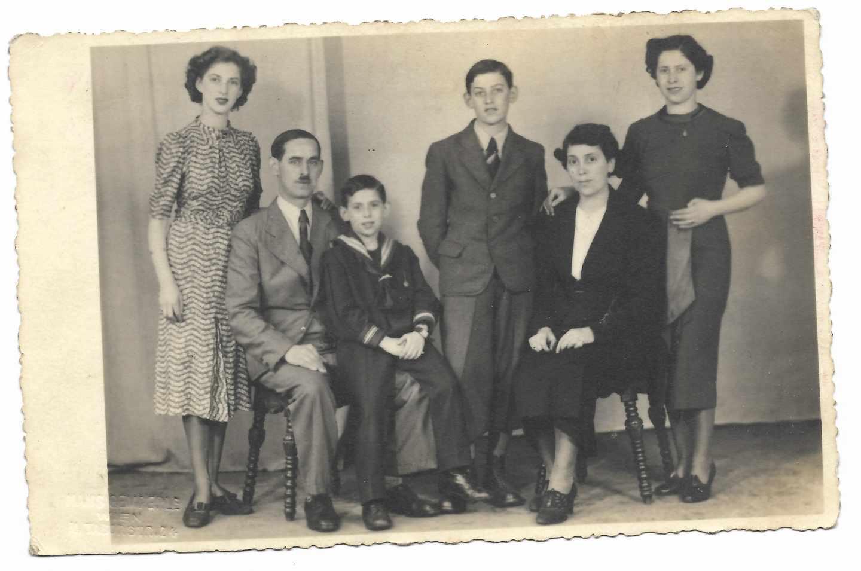 La familia Kleinmann en abril de 1938