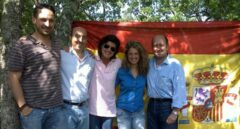 Nerea Alzola, junto a María San Gil, Santiago Abascal, Carlos Urquijo y Carmeo Barrio cuando todos formaban parte del PP vasco.
