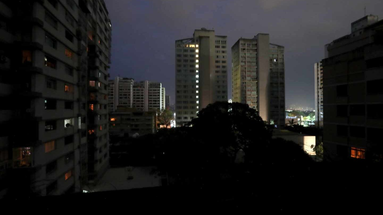 Crisis en Venezuela: apagón en Caracas.