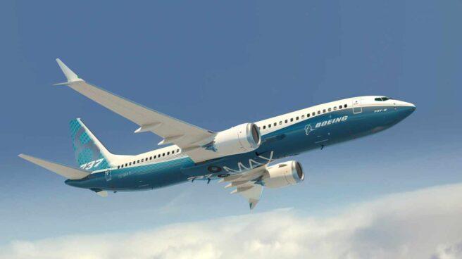 Representación artística del facilitada por Boeing Company de su modelo 737 MAX con los colores de la compañía