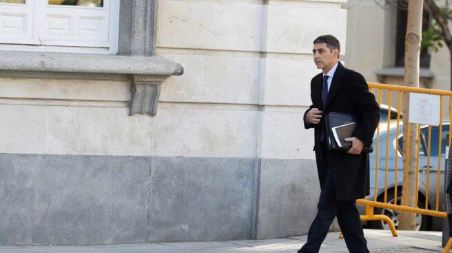 Josep Lluís Trapero, a su llegada al Tribunal Supremo.