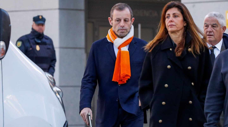 Sandro Rosell llega a la Audiencia Nacional.